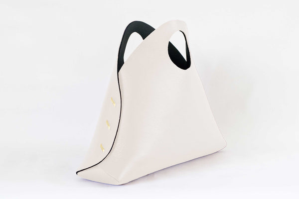 Reversible Medium Shell Bag - Ivory/Black