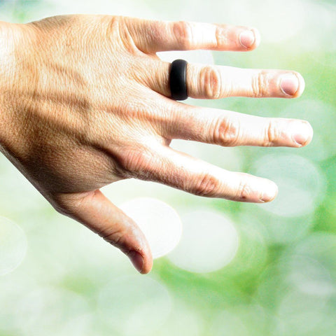 Image of Thick Black Silicone Ring Silicone Lucky Rings