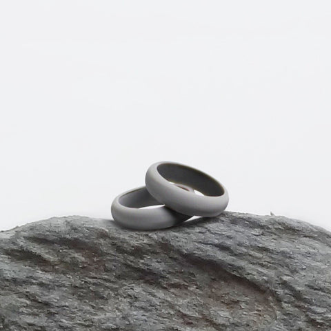 Gray Silicone Ring Silicone Lucky Rings