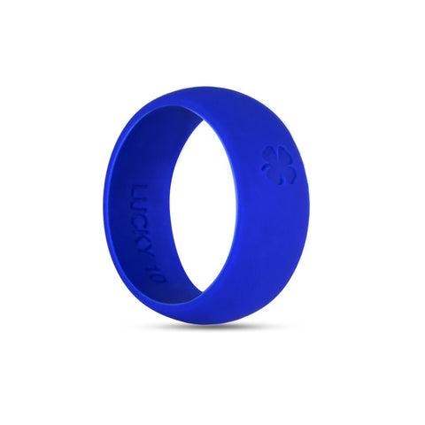 Signature Blue Silicone Ring Silicone Lucky Rings