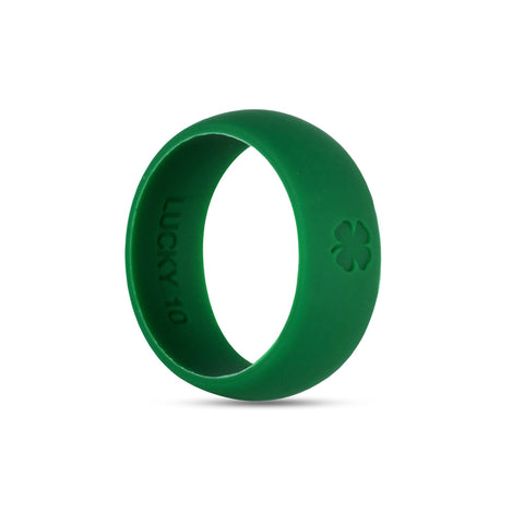 Signature Shamrock Green Silicone Ring Silicone Lucky Rings