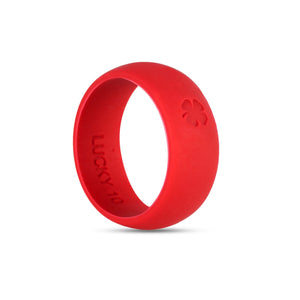 Signature Red Silicone Ring Silicone Lucky Rings