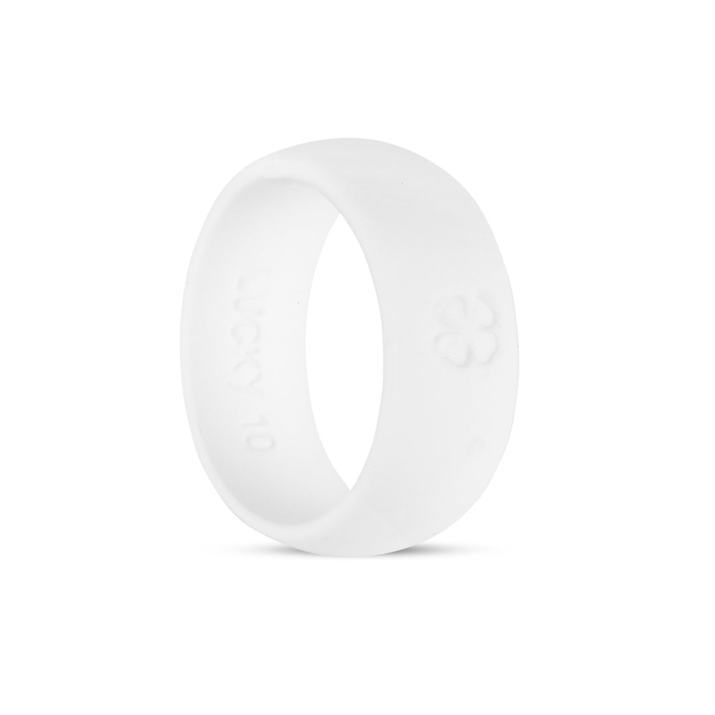 Signature White Silicone Ring Silicone Lucky Rings