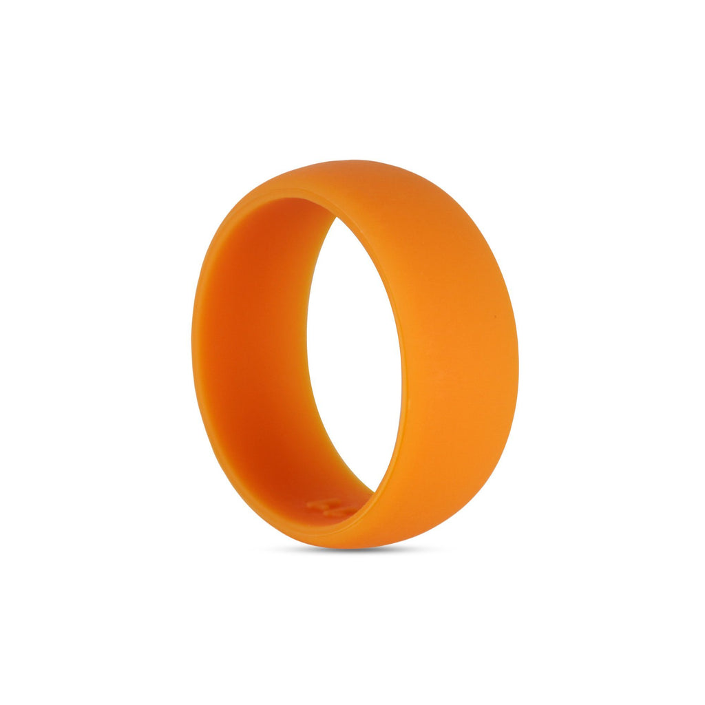 Thick Orange Silicone Ring Silicone Lucky Rings