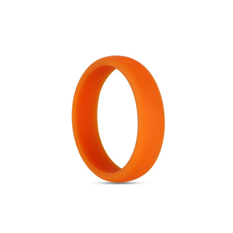 Women's Orange Silicone Ring