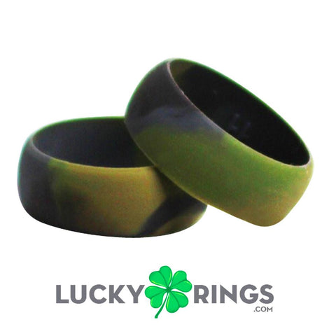 Image of Camouflage Silicone Ring Silicone Lucky Rings