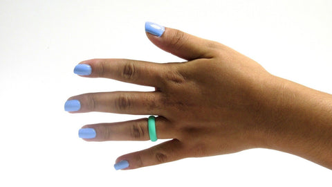 Teal Silicone Ring Silicone Lucky Rings