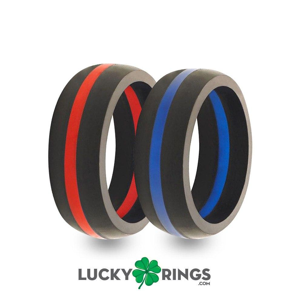 Mens Silicone Wedding Bands Luckyringscom