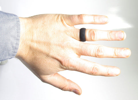 Signature Jet Black Silicone Ring Silicone Lucky Rings