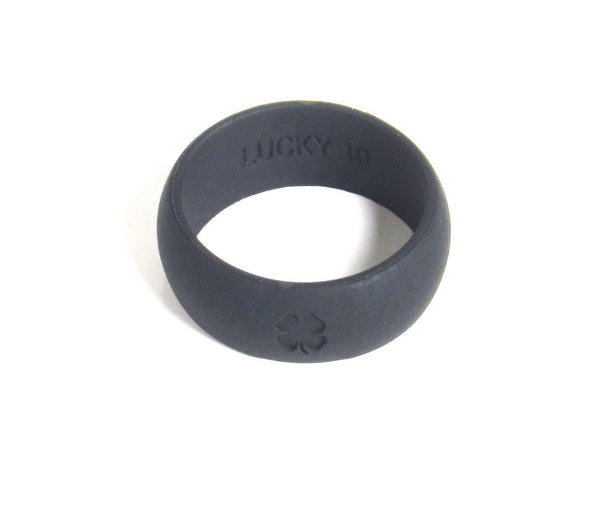 Lucky Rings Signature Jet Black Silicone Wedding Band Premium Quality & Comfort - Luckyrings.com