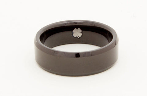tungsten carbide black wedding band with free silicone wedding ring