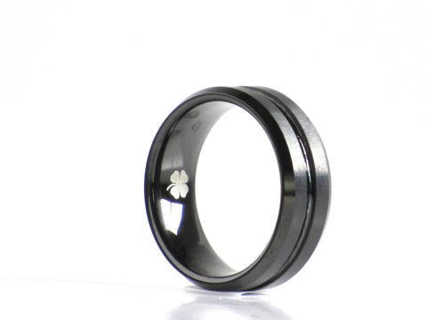 """Kennedy"" Tungsten Carbide Ring Tungsten Lucky Rings"