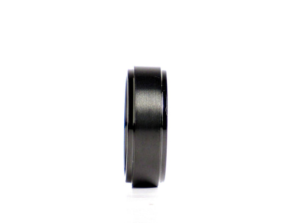 "Tungsten - Lucky Rings ""Lawless"" Men's Black Tungsten Carbide Wedding Band - FREE Silicone Wedding Band With Purchase!"
