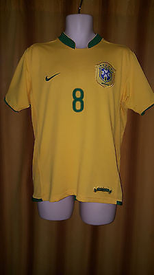 2006-07 Brazil Home Shirt Size Medium - Kaka #8 - Forever Football Shirts