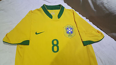 c3cfe7df4a5 2006-07 Brazil Home Shirt Size Medium - Kaka  8 – Forever Football ...