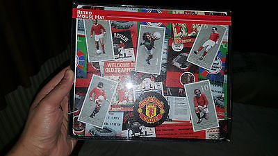 Manchester United Mouse Mat feat MUFC Legends: Best, Law, Stepney & Charlton - Forever Football Shirts