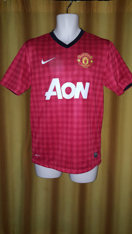 2012-13 Manchester United Home Shirt Size Small - Scholes #22