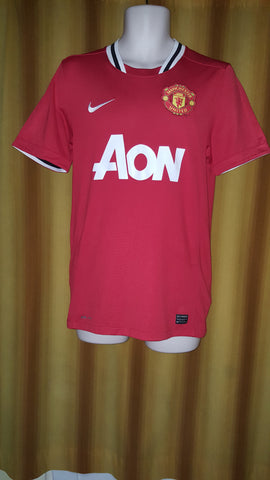 2011-12 Manchester United Home Shirt Size Small - Champions #19 - Forever Football Shirts