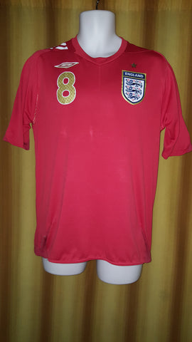 2006-08 England Away Shirt Size Medium - Lampard #8 - Forever Football Shirts