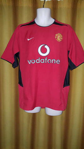 2002-04 Manchester United Home Shirt Size Medium - Forever Football Shirts