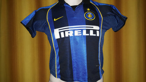 low priced bc910 3e7cf 2001-02 Inter Milan Home Shirt Size Child Small (8 Years Old ...
