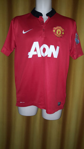 2013-14 Manchester United Home Shirt Size Medium - V. Persie #20 - Forever Football Shirts