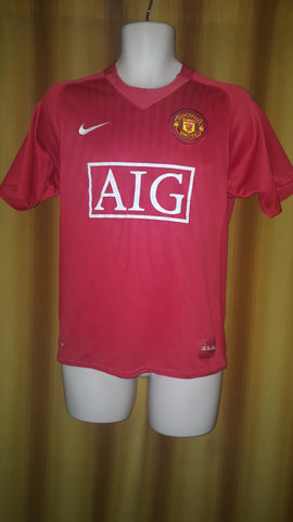 2007-09 Manchester United Home Shirt Size Small