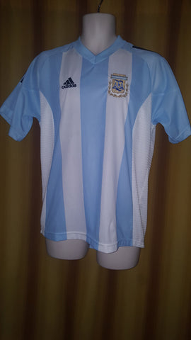 2002-04 Argentina Home Shirt Size Medium - Forever Football Shirts