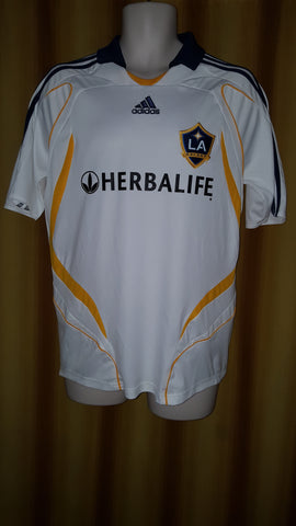 2007-08 LA Galaxy Home Shirt Size Medium - Beckham #23