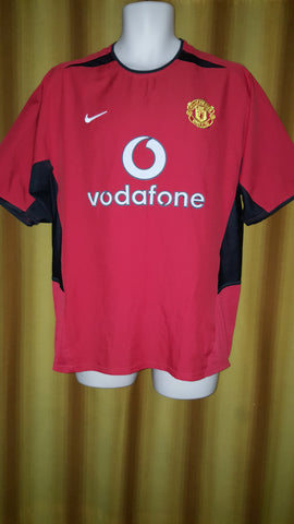 2002-04 Manchester United Home Shirt Size Medium - Beckham #7 - Forever Football Shirts