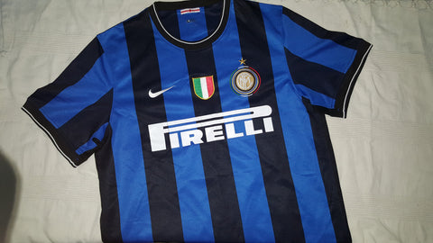 premium selection 2f0f4 138bc 2009-10 Inter Milan Home Shirt Size Large - Sneijder #10 ...