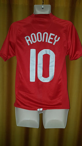2007-09 Manchester United Home Shirt Size Small - Rooney  10 ... 69a2a6c96