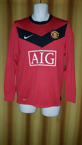 2009-10 Manchester United Home Shirt Size Small (Long Sleeve) - Forever Football Shirts
