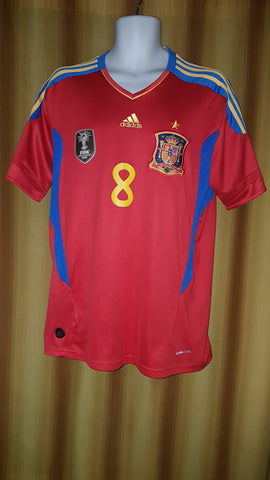 2011 Spain Home Shirt Size Large - Xavi #8 - Forever Football Shirts