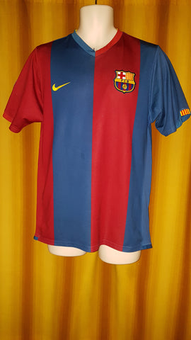 2006-07 Barcelona Home Shirt Size Medium - Messi #19 - Forever Football Shirts