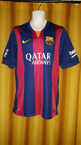 2014-15 Barcelona Home Shirt Size Medium - Neymar Jr #11 - Forever Football Shirts