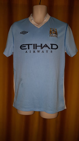 2011-12 Manchester City Home Shirt Size 40 - Kun Aguero #16 - Forever Football Shirts