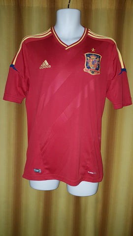 2011-12 Spain Home Shirt Size Medium - Forever Football Shirts