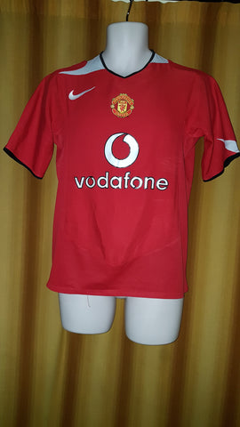 2004-06 Manchester United Home Shirt Size Small - Forever Football Shirts