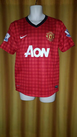 2012-13 Manchester United Home Shirt Size Medium - V. Persie #20 - Forever Football Shirts