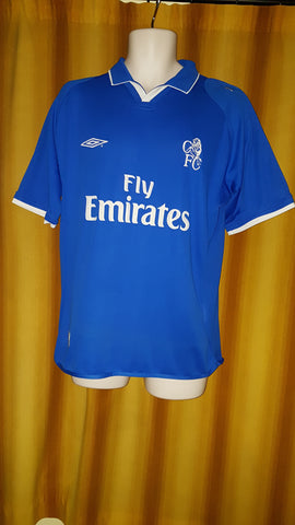 2001-03 Chelsea Home Shirt Size Medium - Terry #26 - Forever Football Shirts