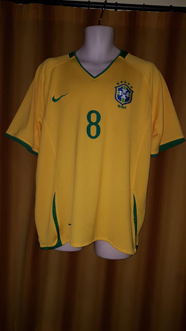 2007-09 Brazil Home Shirt Size Extra Large- Kaka #8 - Forever Football Shirts