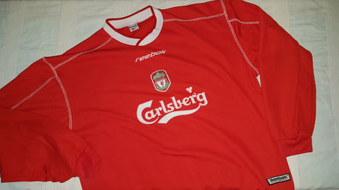 sports shoes e8038 d66a0 2002-04 Liverpool Training Sweatshirt Size Large – Forever ...