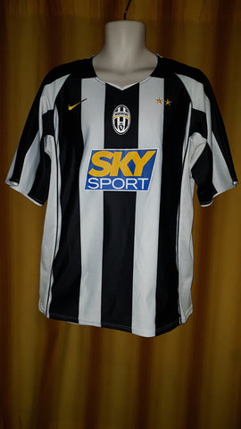 2004-05 Juventus Home Shirt Size Large - Ibrahimovic #9 - Forever Football Shirts