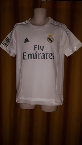 2015-16 Real Madrid Home Shirt Size Medium- Bale #11 - Forever Football Shirts