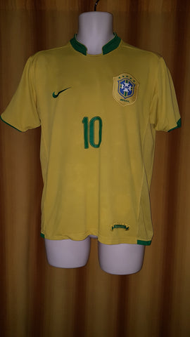 2006-07 Brazil Home Shirt Size Medium - Ronaldinho #10