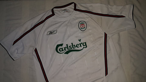 32c04fbbf 2003-04 Liverpool Away Shirt Size Large - Owen  10 – Forever ...