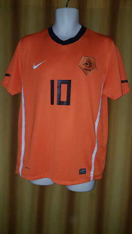 2010-11 Holland Home Shirt Size Medium - Sneijder #10