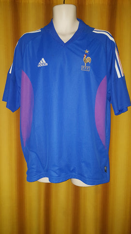 2002-03 France Home Shirt Size Extra Large