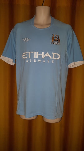 2010-11 Manchester City Home Shirt Size 40 - Balotelli #45